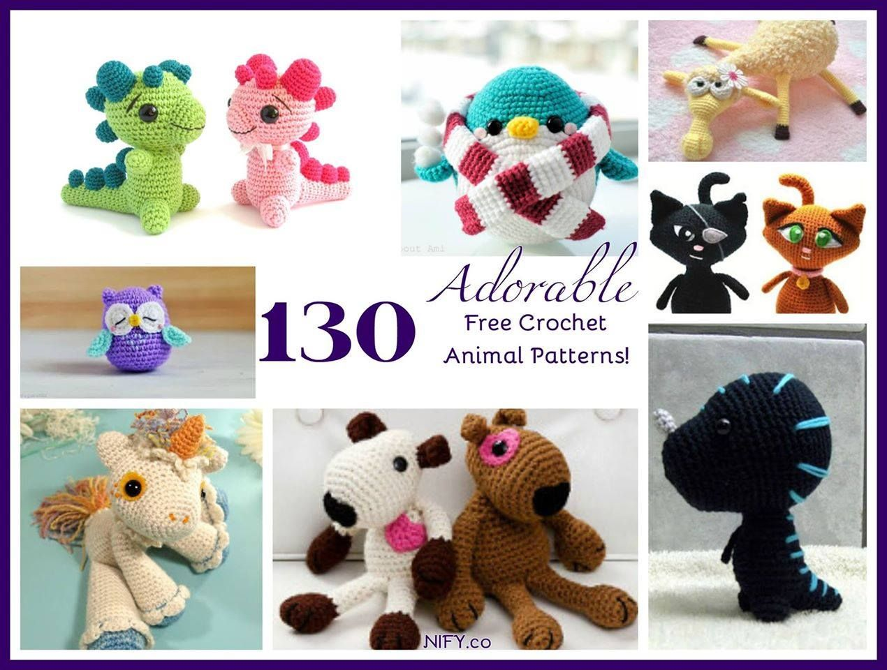 Moderno Free Crochet Patterns Animals Cresta - Manta de Tejer Patrón ...
