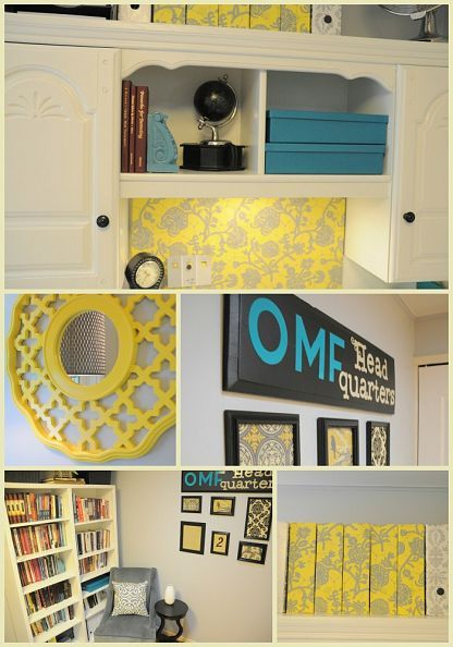 Here's how organization combines with pops of color to make this home office inviting.