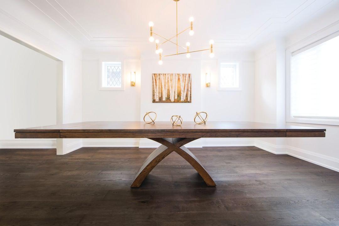 """Woodcraft Solid Wood Furniture on Instagram: """"Broadview Table  #diningroom #diningroomdecor #diningtable #diningroomideas #diningdecor #diningtabledecor #diningroomgoals #diningrooms…"""""""