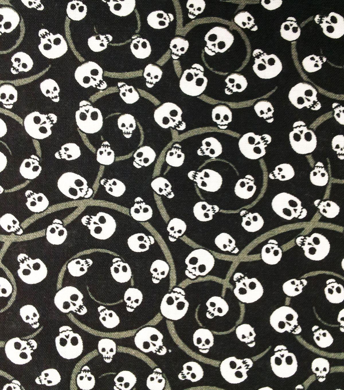 Holiday Inspirations Fabric-Mini SkullsHoliday Inspirations Fabric-Mini Skulls,