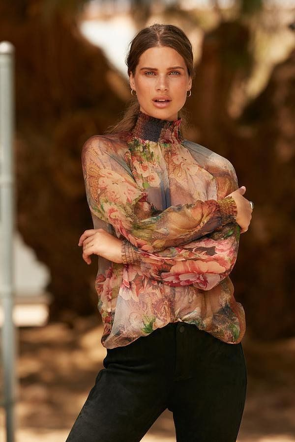 Autumn Roses - Smock blouse
