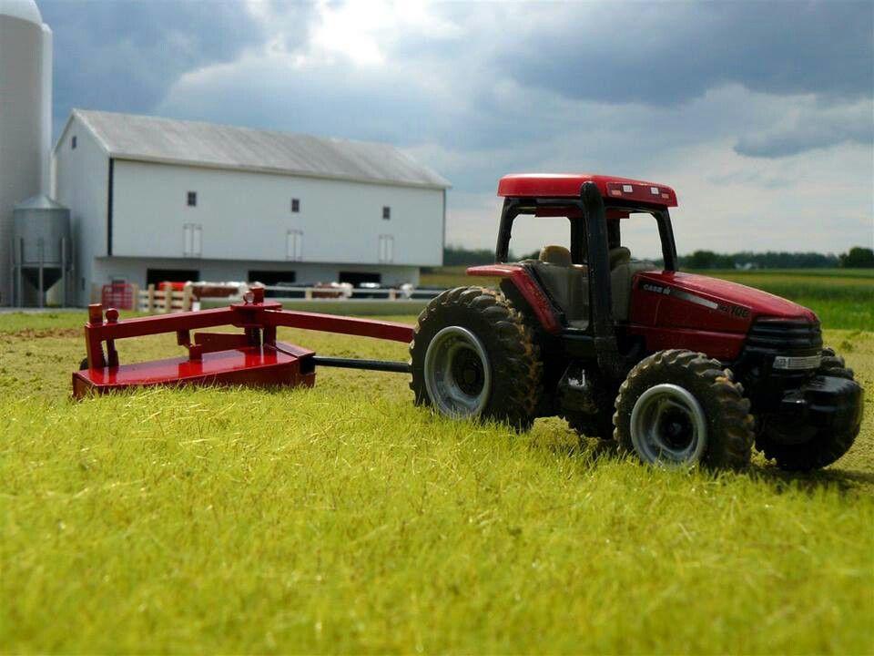 1/64 CASE IH MX100 FWD & Discbine | toy tractors | Farm toys