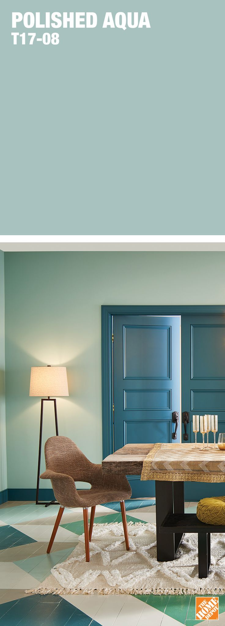 A light application of bluegreen that lends excitement to
