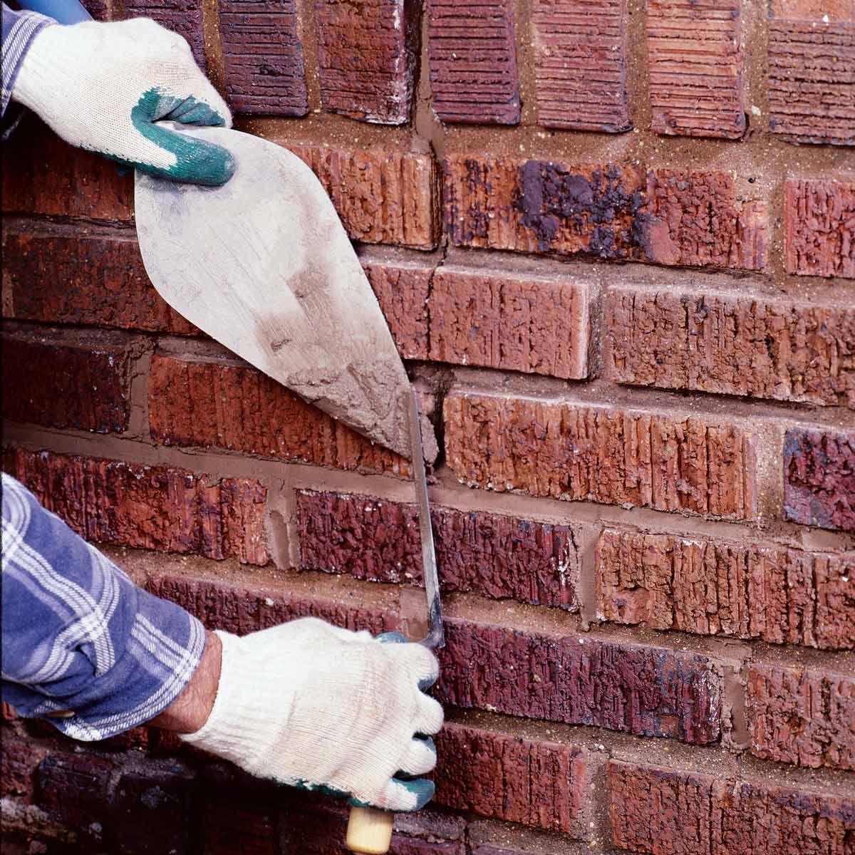 How To Repair Mortar Joints Brick Repair Home Maintenance Home Repairs