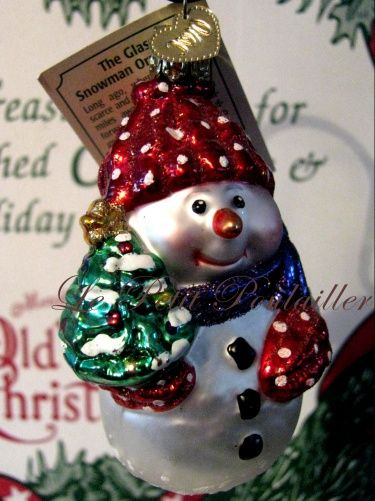 Merck Family Old World Christmas 'The Glass Snowman' retired blown glass  ornament ... in my shop now! - Merck Family Old World Christmas 'The Glass Snowman' Retired Blown