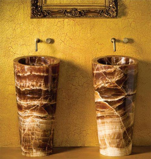 Lavabos de pedestal de onyx mexicolour pinterest - Limpieza marmol blanco ...