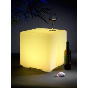 auraglow sitzw rfel led rgb hocker leuchtw rfel lounge. Black Bedroom Furniture Sets. Home Design Ideas