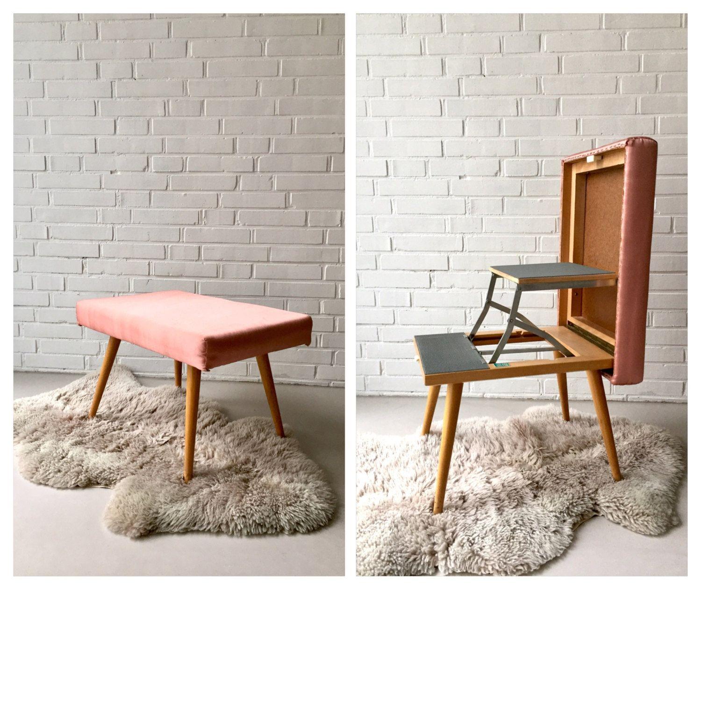 Hocker designklassiker  Vintage stool, pedal, folding stool, head of antique, design ...
