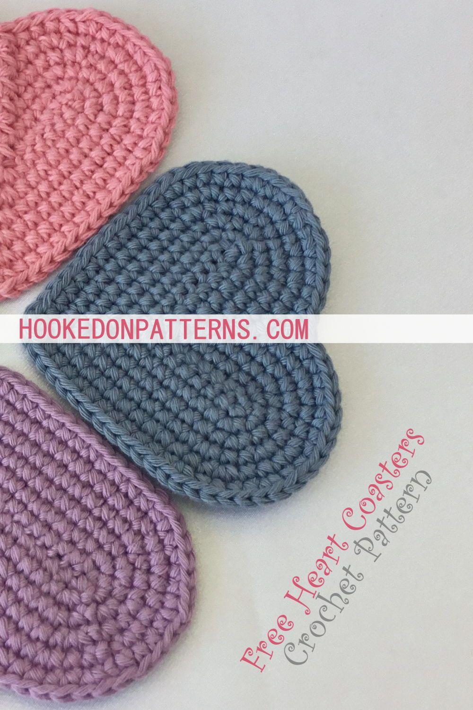 Free Heart Coaster Crochet Pattern | Needlework~crochet~misc ...