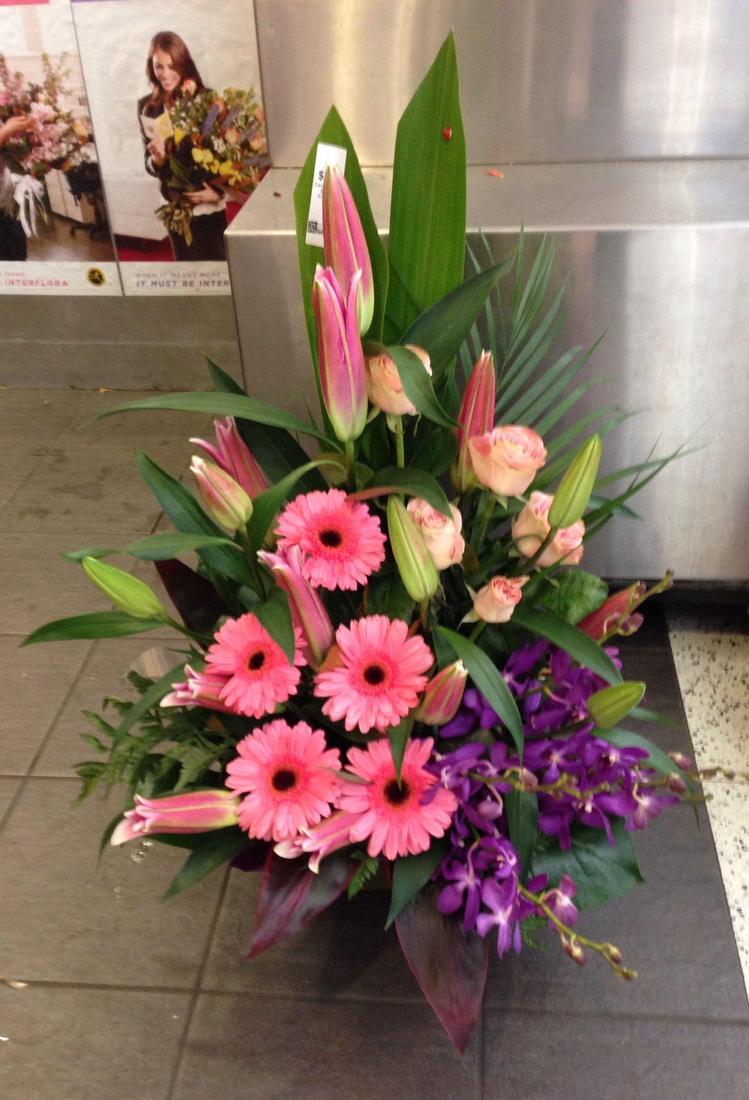 Gerbera S Orientals Lillie S Roses Singapore Orchids Church Flower Arrangements Large Flower Arrangements Funeral Flowers