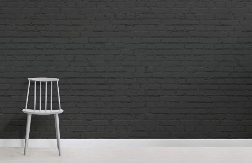 Best Black Brick Wallpaper Mural Faux Brick Wallpaper Black 400 x 300