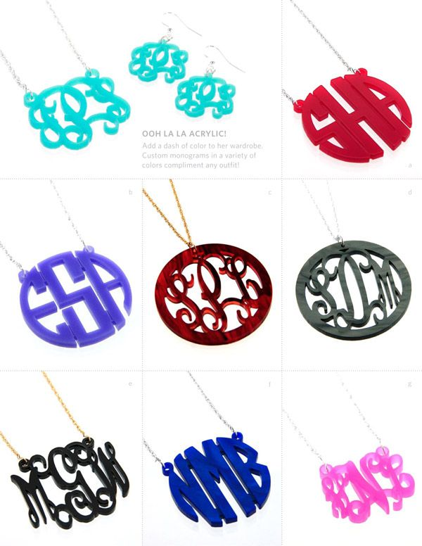 Super cute acrylic pendants and necklaces with your initials i super cute acrylic pendants and necklaces with your initials mozeypictures Image collections