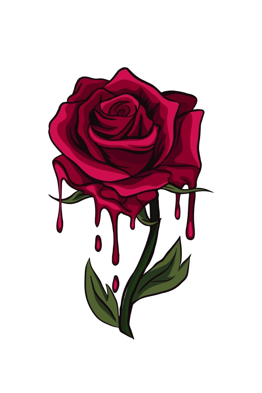 46e6951b42ecdd69d9ab5e4ec0dffe01 » Aesthetic Rose Drawing