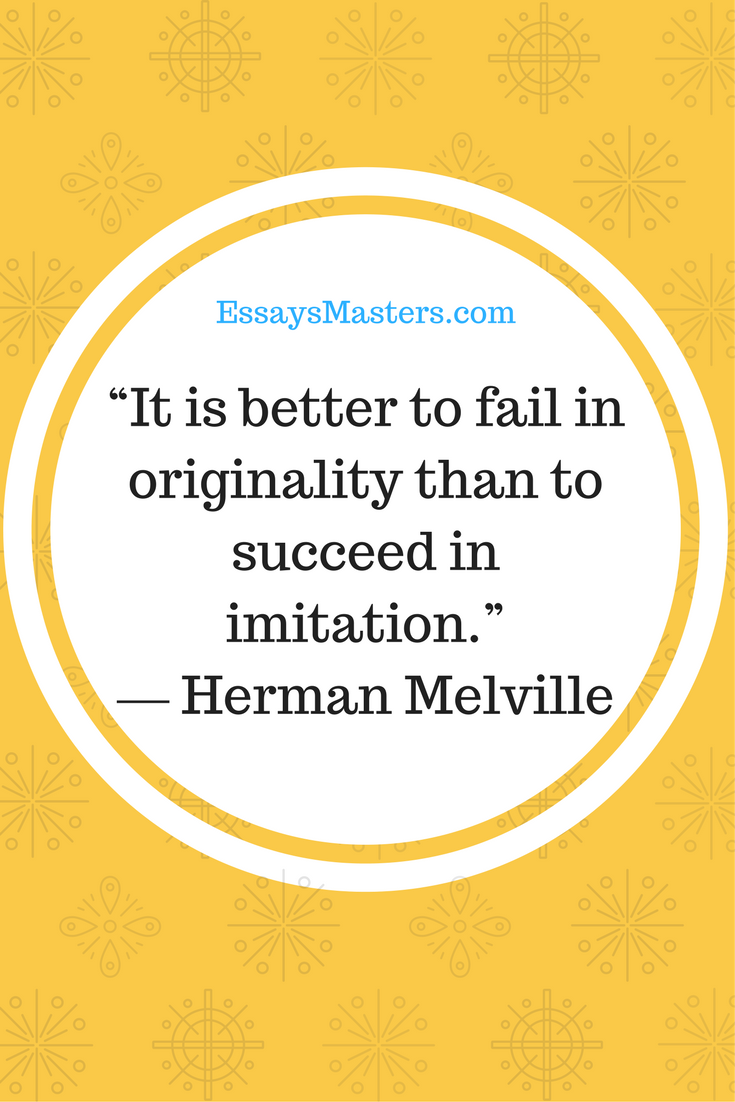"""""""It is better to fail in originality than to succeed in ..."""