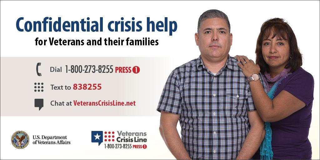 Veterans Crisis Line Suicide Prevention Hotline Chat Text