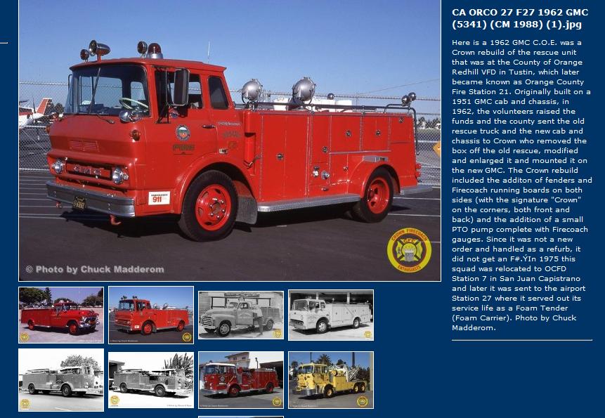 1968 Gmc Crown Rescue Fire Trucks Work Truck Fire Engine