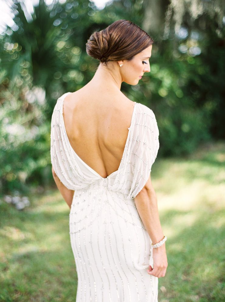 Low back wedding dress by Jenny Packham | fabmood.com