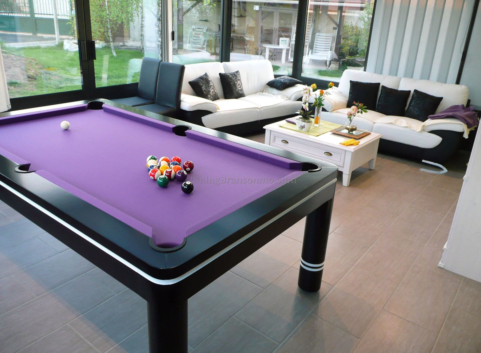 Modern Dining Pool Table Combo