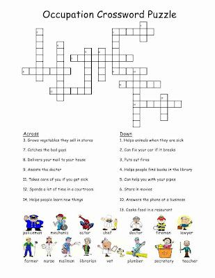 Occupation Crossword Puzzle My Girl Scout Board Life Skills
