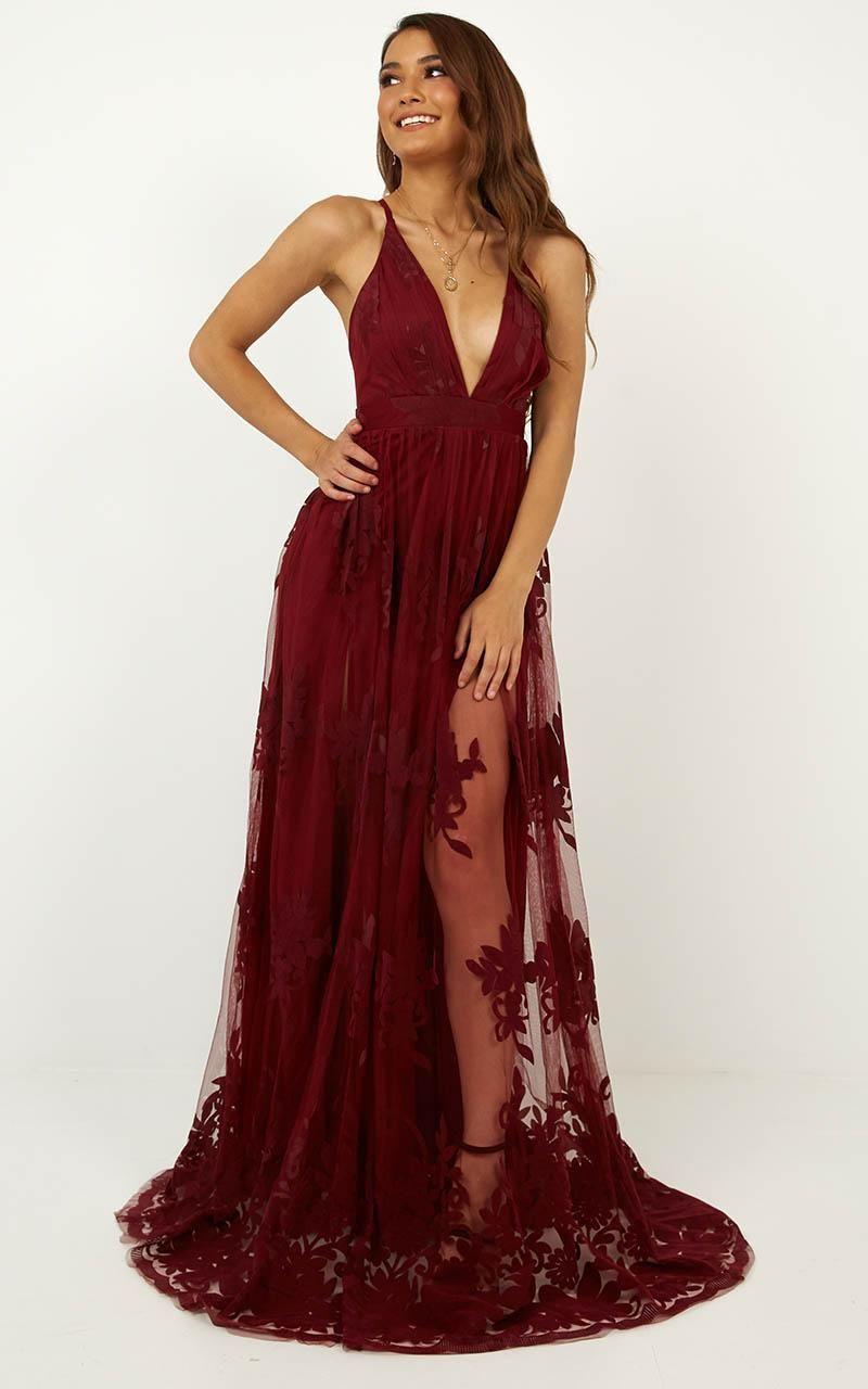 Promenade Maxi Dress In Wine Showpo Maxi Dress Dresses Trendy Dresses Summer