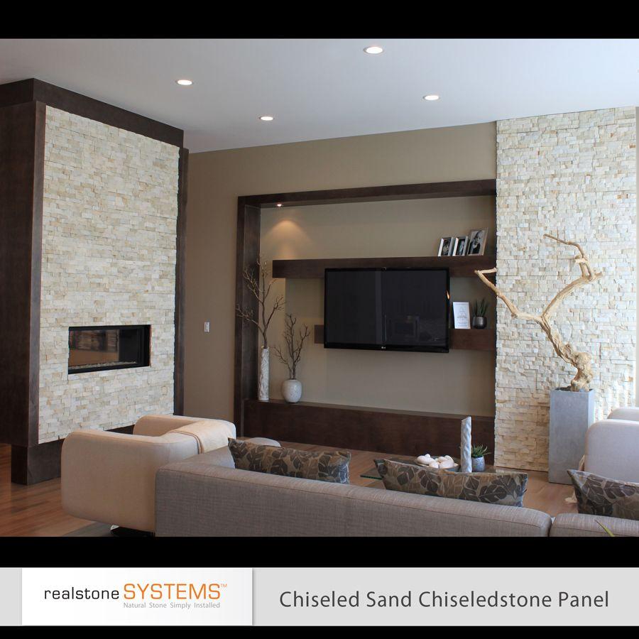 Chiseled Sand Shadowstone Fireplace Stone Veneer Realstone ...