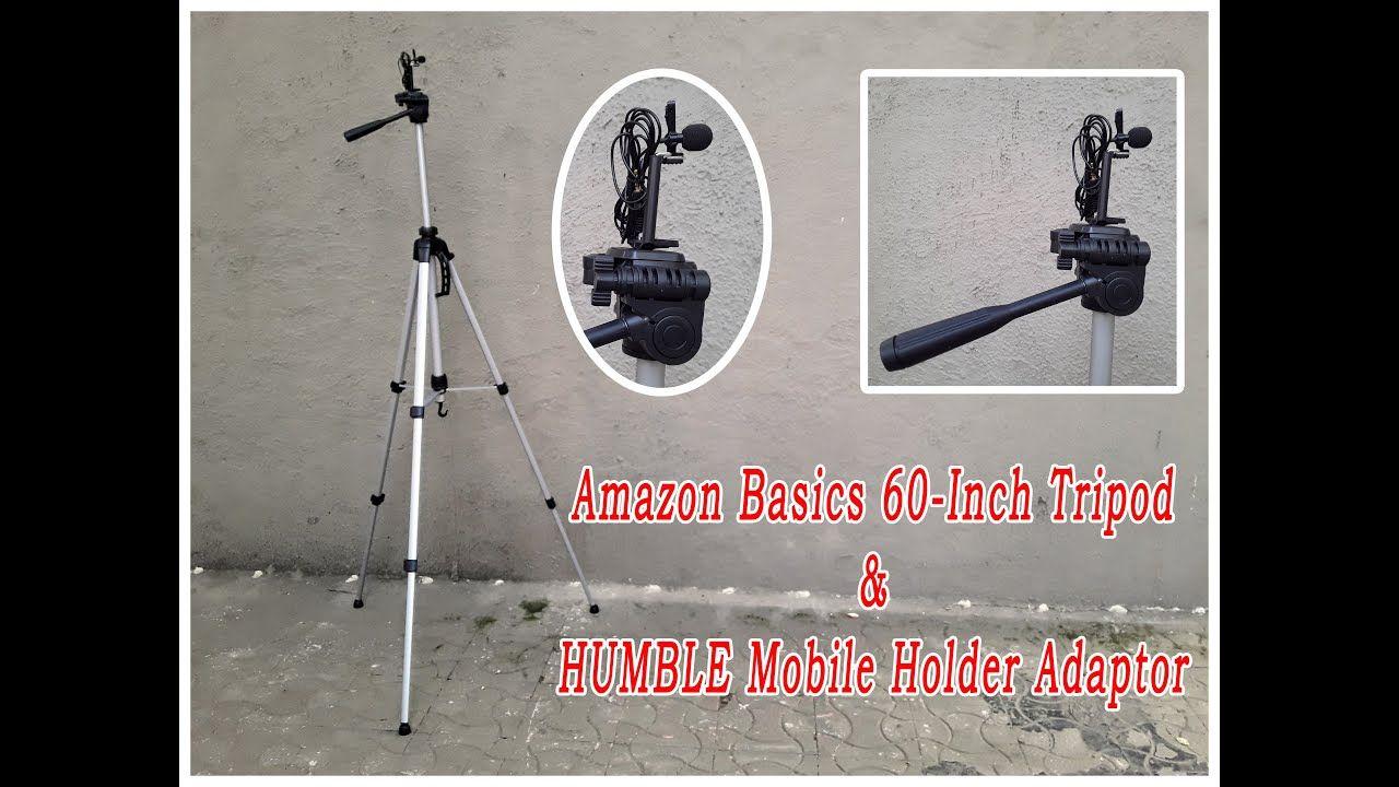 AmazonBasics 60Inch Tripod & HUMBLE Mobile Holder Adaptor
