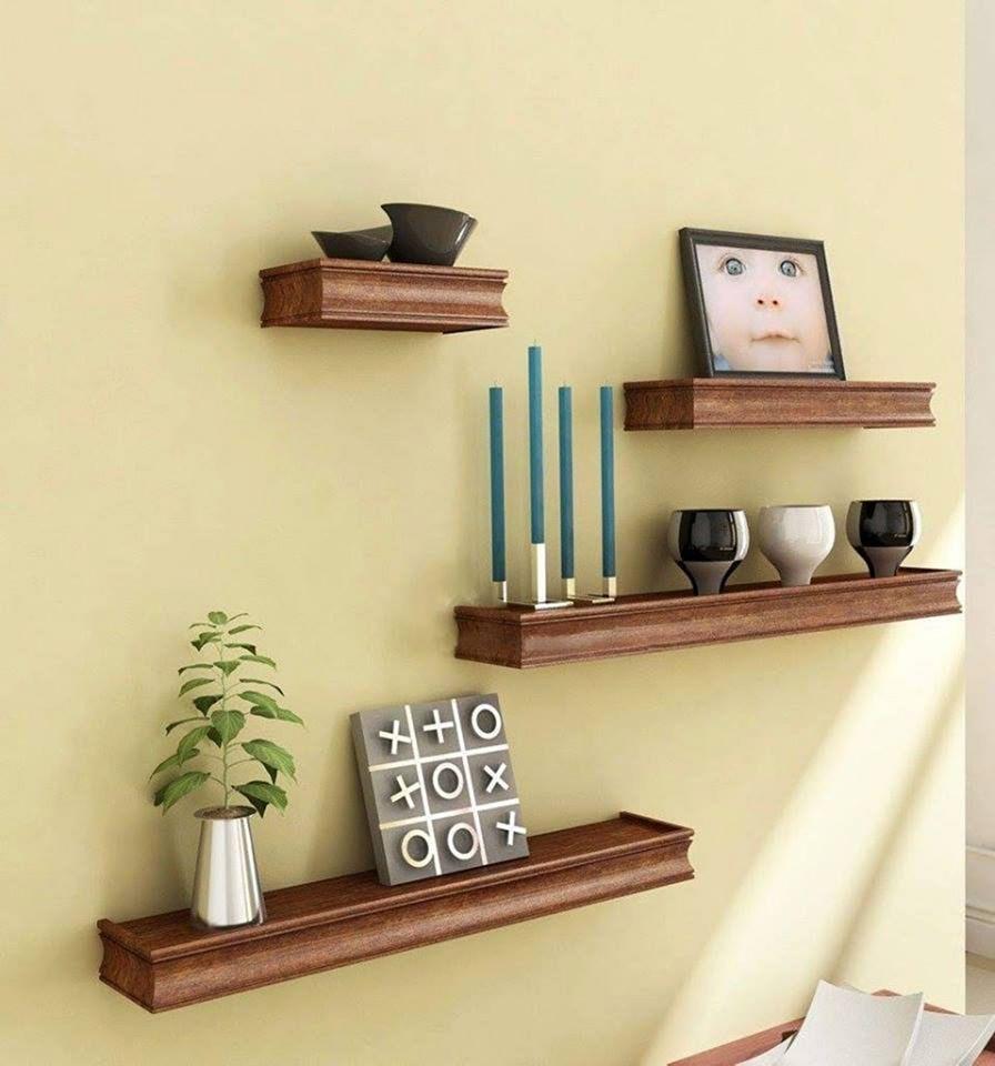 Wooden Wall Shelves Decoration Ideas