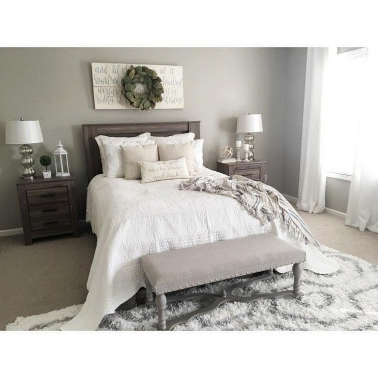 16 Relaxing Bedroom Designs For Your Comfort: 50+ Simple Rustic Farmhouse Bedroom Decorating Ideas To
