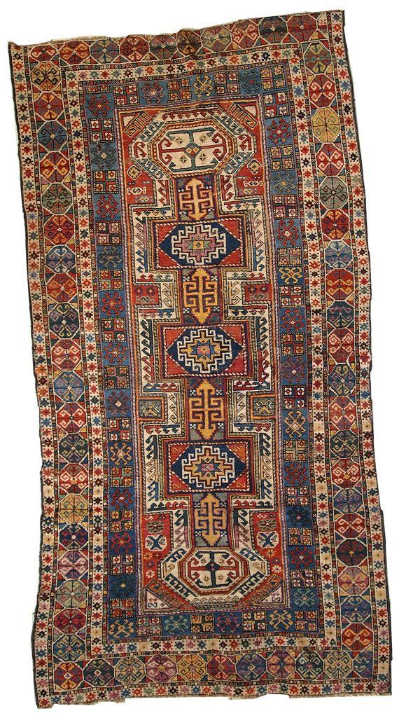 Hand Made Antique Caucasian Shirvan Rug 3 8 39 X 7 6 39 118cm X 233cm 1870 Antique Persian Carpet Antique Persian Rug Rugs On Carpet