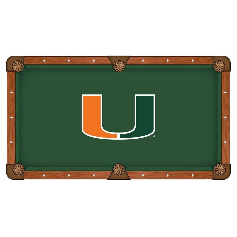 Miami Hurricanes Pool Table Cloth