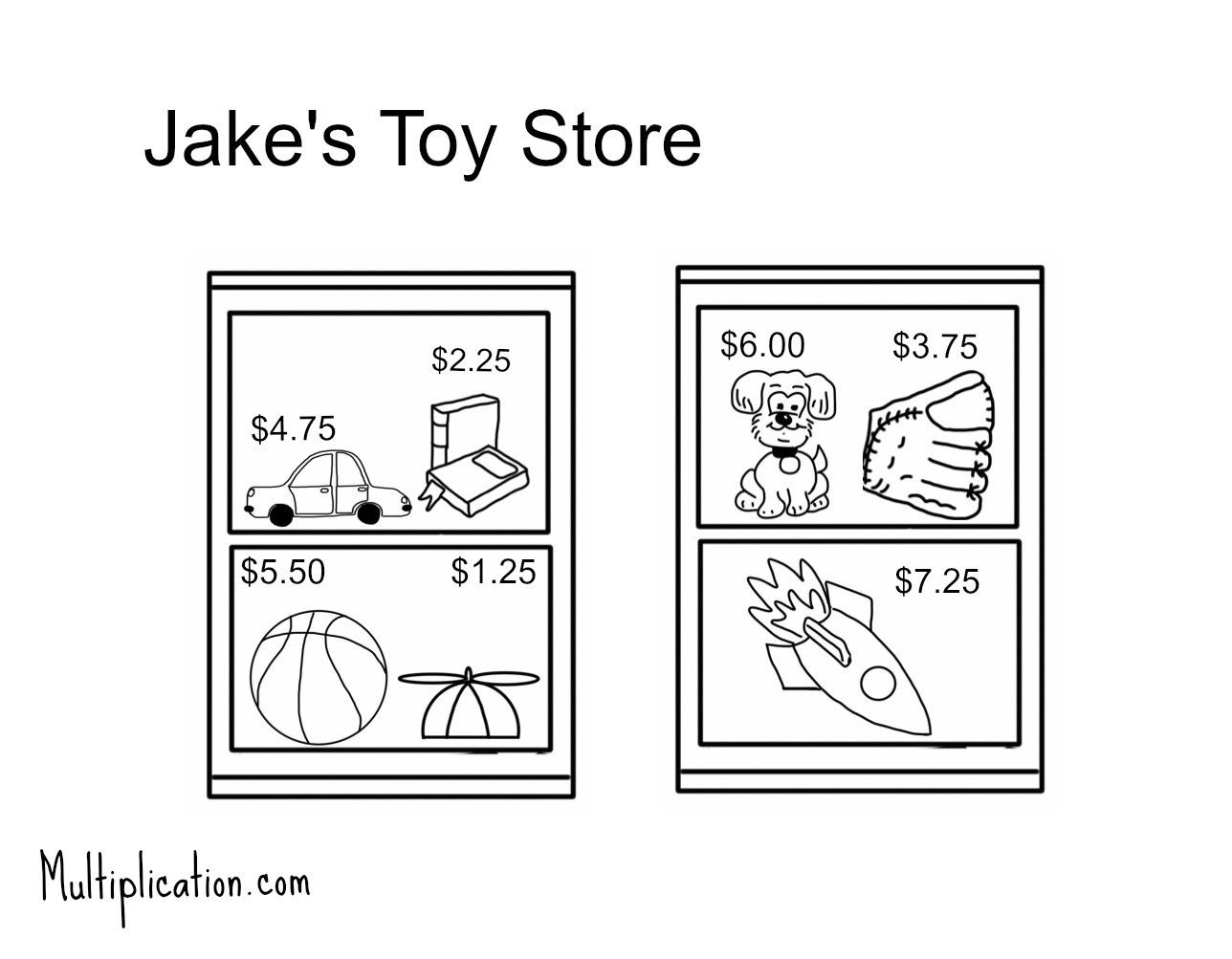 Toy Store Activity Comes With Free Worksheet