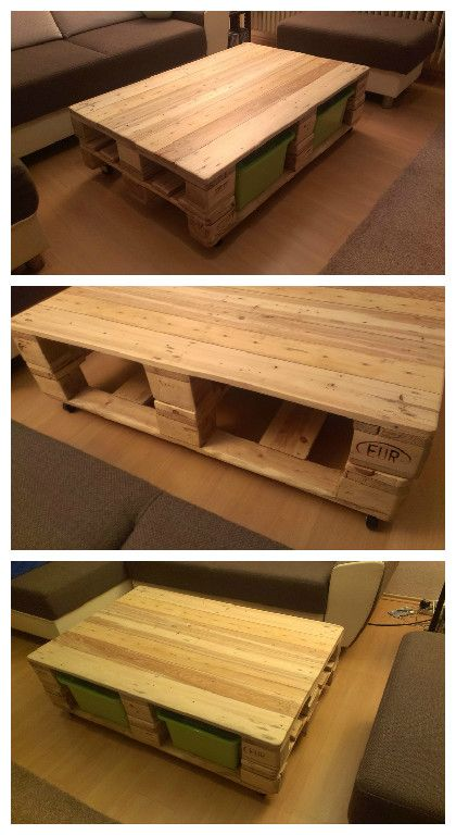 Pallet coffee table pallet ideas pallet coffee tables for Diy coffee table with drawers