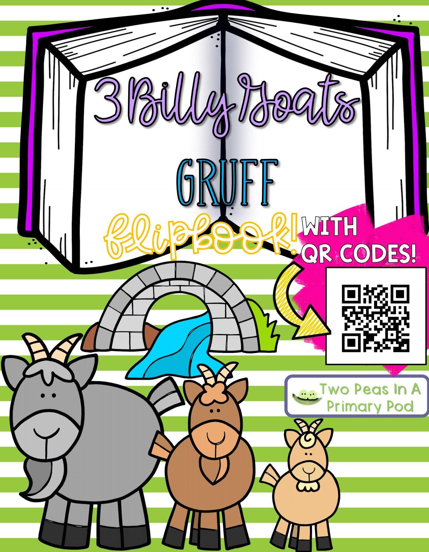 3 Billy Goats Gruff Fairy Tale Flipbook