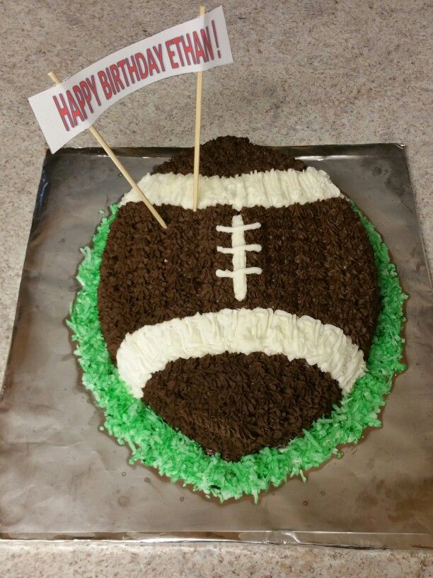 Football Birthday Cake For 7 Year Old Boy