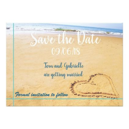 Beach Destination Save the Date FULLY CUSTOMISABLE Card - formal - formal invitation style