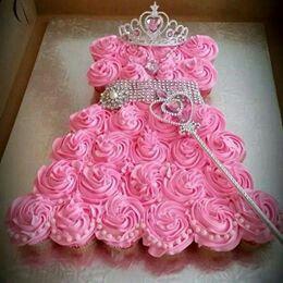 Sweet Princess Gown Cake