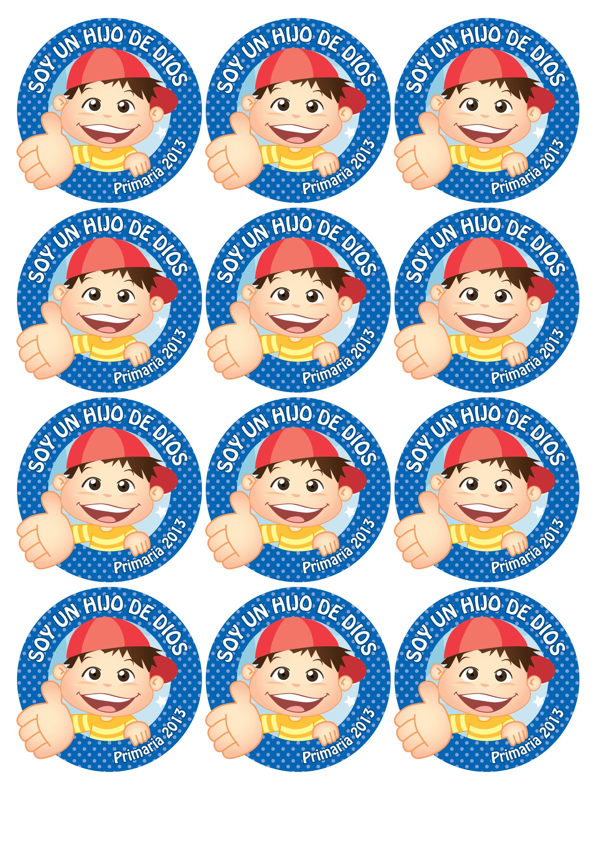 Distintivos para los niños, lo pueden usar el día de la presentación ...