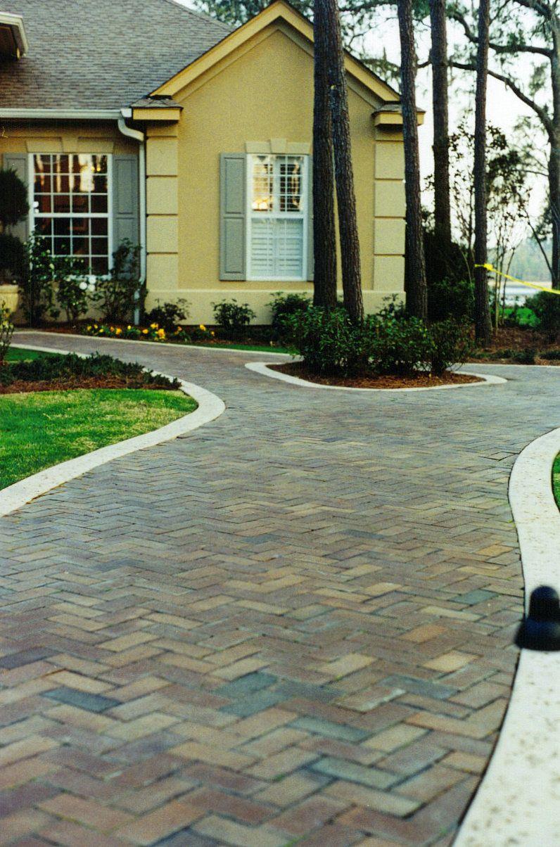 Autumn Blend Color Brick Paver Walkways Patio Pavers Design