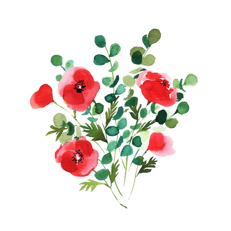 Poppies Watercolor Paint Kit Poppy Painting Watercolor Art