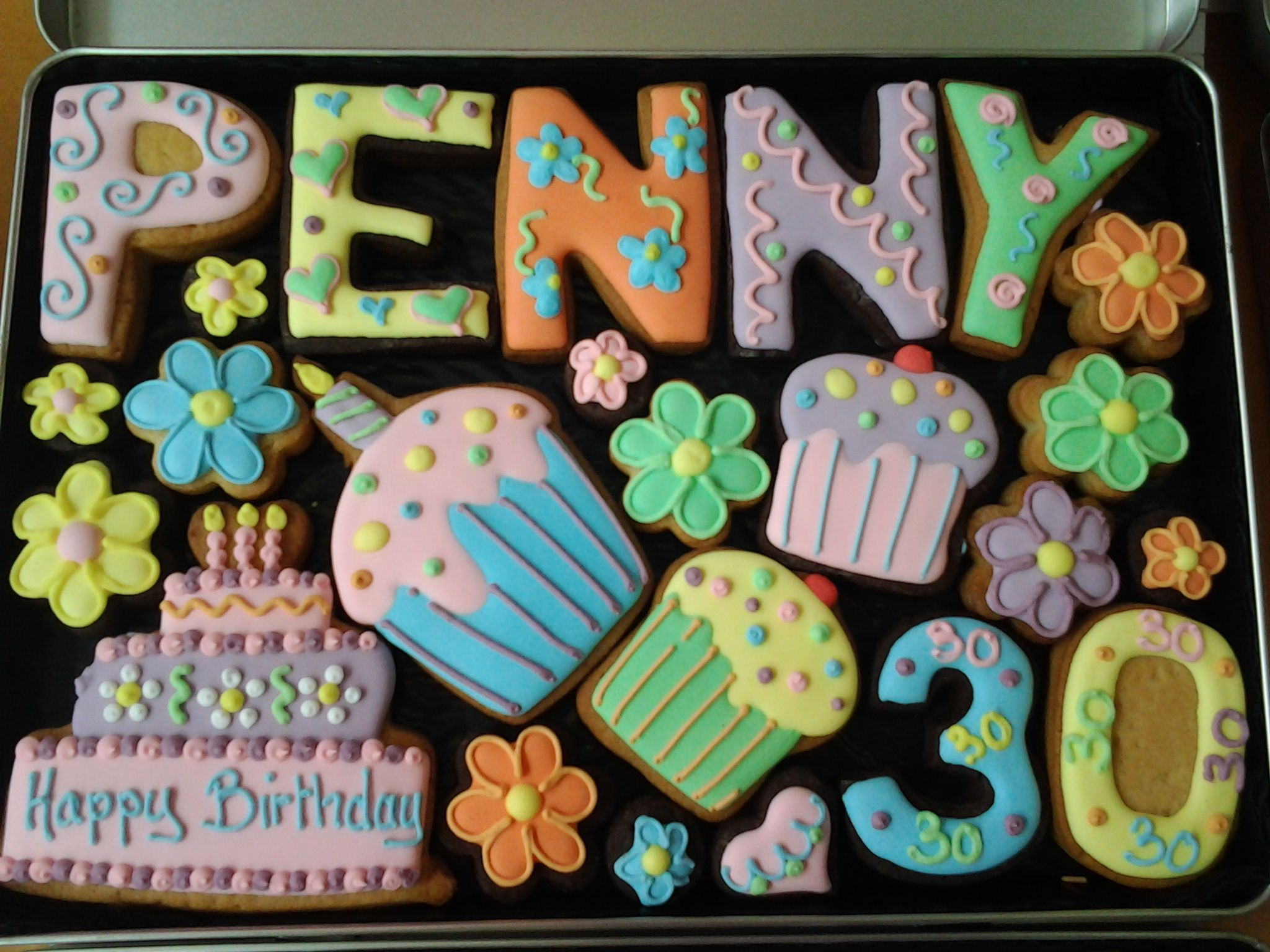 Happy 30th Birthday cookies for Penny cookies gift birthday