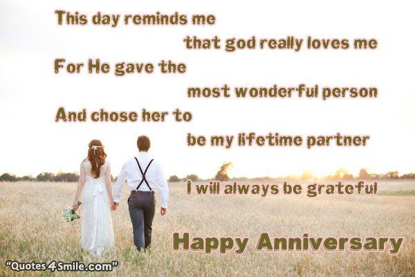 Life Partner Happy Anniversary http://www.quotes4smile.com ...