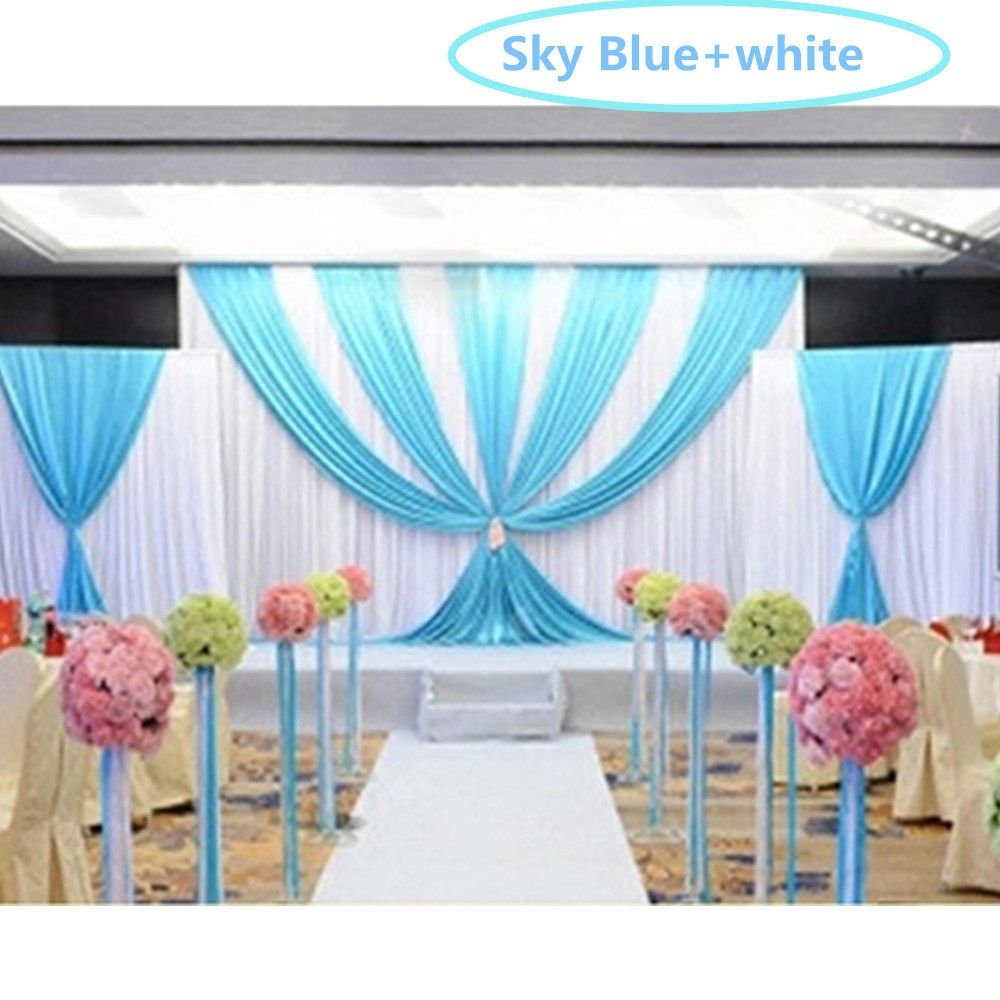 Wedding decoration stage backdrop  New pcslot pcs mpcs m Luxury Wedding Backdrop with Swag