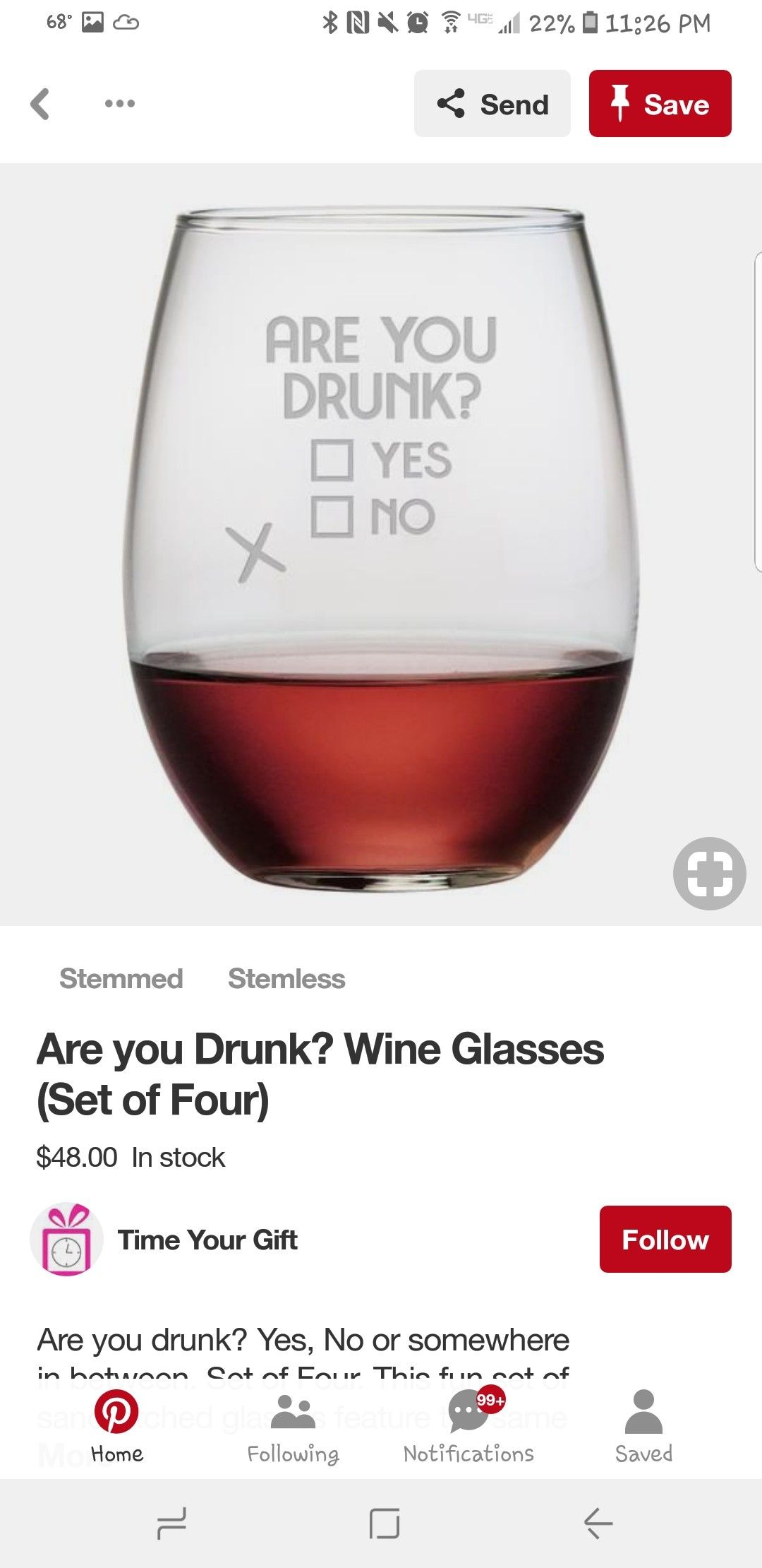 Pin By Katie O Kelly On Cricut Project Ideas Wine Drinks Stemless Wine Glass Wine Glasses