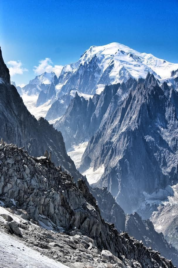 View Of Mont Blanc From Aiguille Du Argentiere By Sam Hudd Telegraph Co Uk Mountain Landscape Photography Vintage Landscape Mountain Landscape