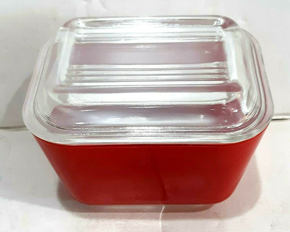 Super Glossy Vintage Pyrex 501 1 1 2 Cup Red Refrigerator Dish Glass Lid Pyrex Midcenturymodern In 2020 Red Refrigerator Pyrex Vintage Pyrex