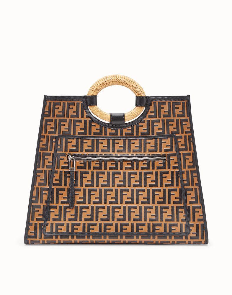 FENDI RUNAWAY SHOPPER - Multicolor leather shopper bag - view 1 detail cdb8c5f2e0