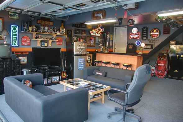 Man Cave Garage Art : Garage man cave ideas decor mancave obsession