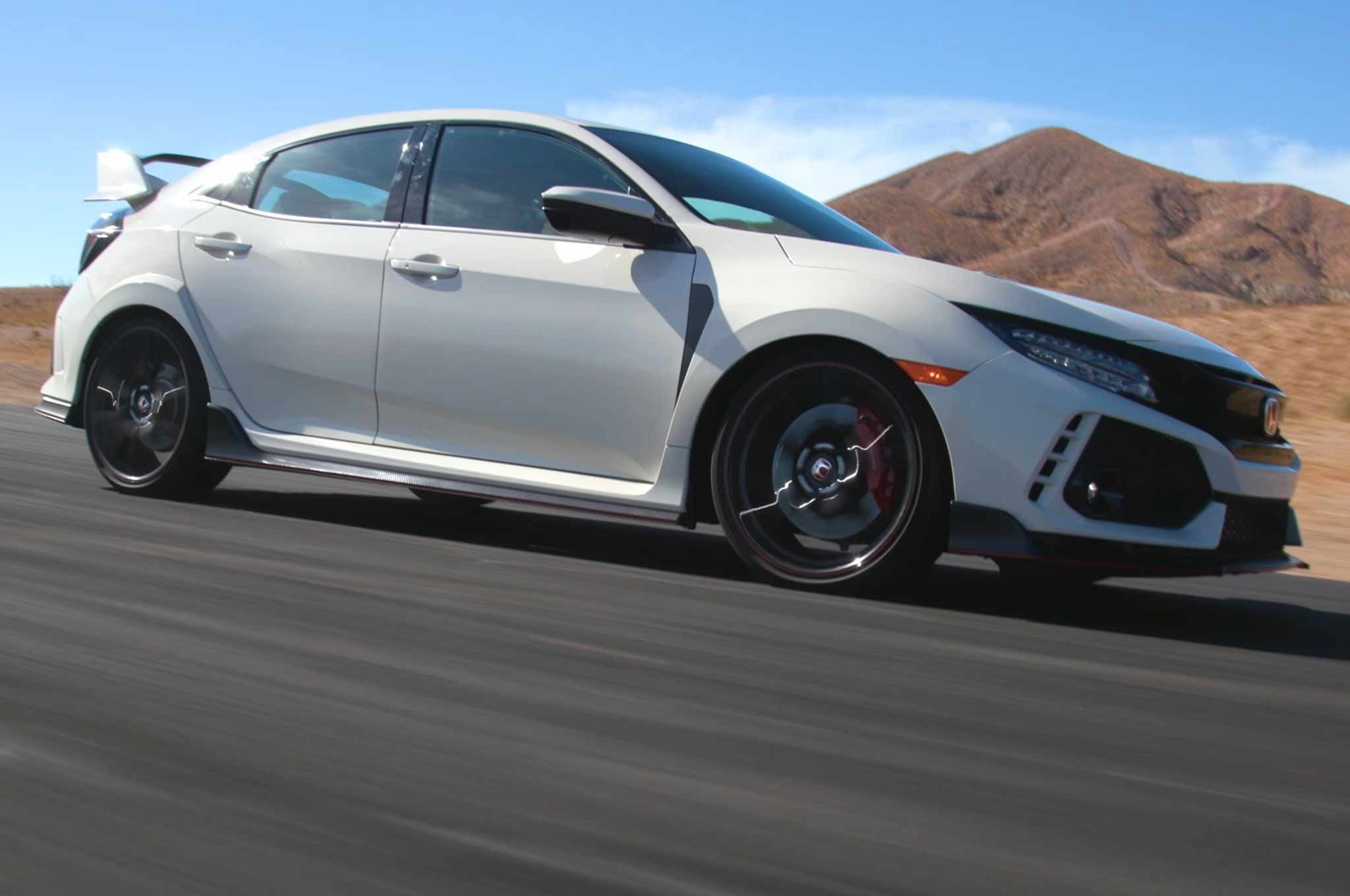 2017 Honda Civic Type R Laps Willow Springs on Ignition