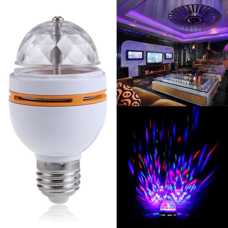 e27 bunte rgb led rotierenden bhne disco kristall led birne lampe licht disco lichter laser - Bunte Led Lampen