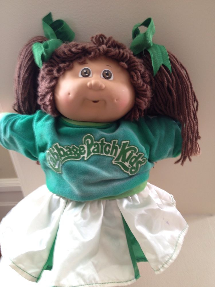Coleco Cabbage Patch Kids 15 Quot Cheerleader Girl Brown Brown